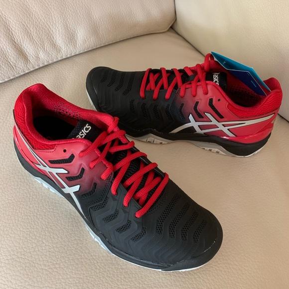 ASICS men's gel resolution 7 tennis shoe size 9.5